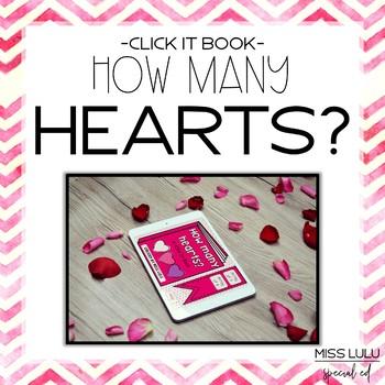 How Many Hearts? Valentine's Click It Book {No Print}