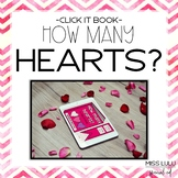 How Many Hearts? Valentine's Click It Book {No Print}