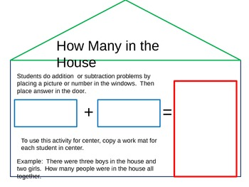 How Many In the House -Addition and Subtraction