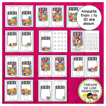 How Many Jellybeans in the Jar? A Counting to 20 Interactive Book