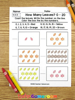 How Many Leaves? - Counting Leaves from 0 to 20 -  K.CC.5