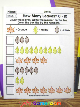 How Many Leaves? - Counting Leaves from 0 to 10 -  K.CC.5