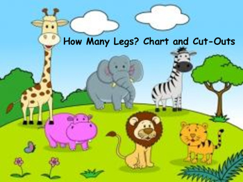 How Many Legs - Animals?  Chart