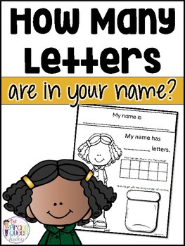How Many Letters Are In Your Name? Counting Tens Frame Activity