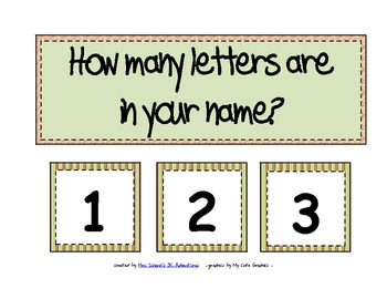 How Many Letters Are in Your Name? (a pocket chart activity)