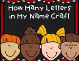 How Many Letters in my Name Craft