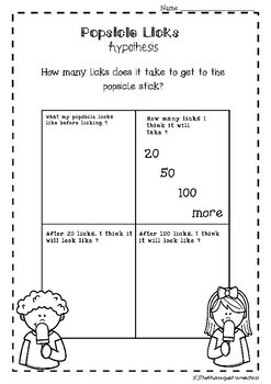 How Many Licks to the Popsicle Stick -- Science Experiment