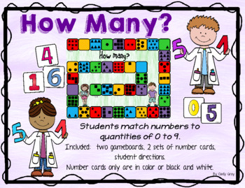 How Many?  Matching Number to Quantity 0-9 ~ Subitizing