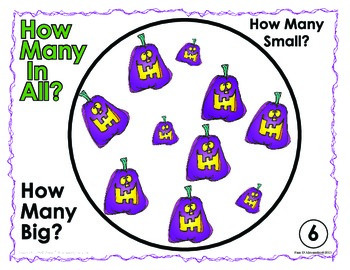 How Many? Math Counting - Halloween Themed Center Aligned to K.CC.B.5
