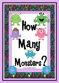 How Many Monsters? - Math Counting Activities
