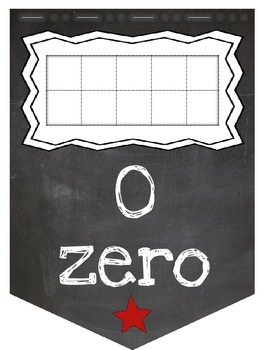 How Many Moons? Numbers 1 to 30 Pennant Banner (Chalky Space theme)