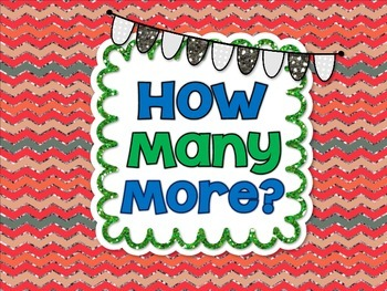 How Many More? Common Core Aligned Printable Pages 1.MD.4
