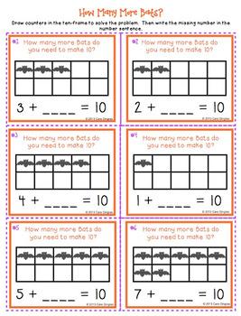Number Fluency Center Games/Activities (K/1) - Halloween