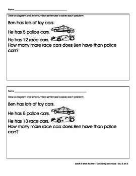How Many More?  - Comparison Word Problems