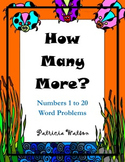 How Many More?  Math Problems Numbers 1 to 20