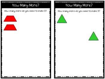 How Many More? (Pattern Block Building Cards)