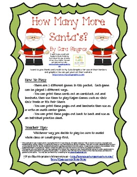 Number Fluency Center Games/Activities (K/1) - Christmas