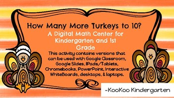 How Many More Turkeys to 10?-A Digital Math Center