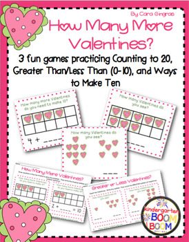 Number Fluency Center Games/Activities (K/1) - Valentines Day