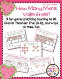 Number Fluency Center Games/Activities (K/1) - Valentines