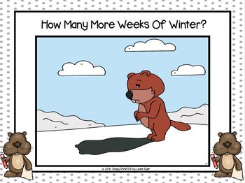 How Many More Weeks Of Winter?:  NO PREP Groundhog Day Themed I Spy Game
