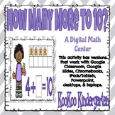 How Many More to 10-Digital Math Center for Google Classro