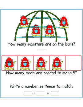 How Many More to Make Five? {addition to 5 with part-part-whole and ten frames}