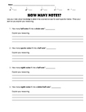 """How Many Notes?"" Comprehensive Note Value Worksheet"