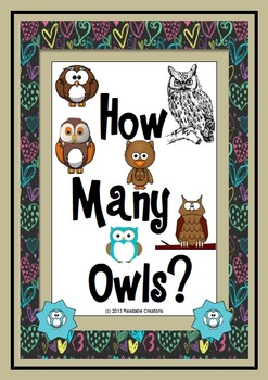 How Many Owls? - Math Counting Activities