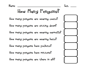 How Many Penguins?  Answering Questions about a Set
