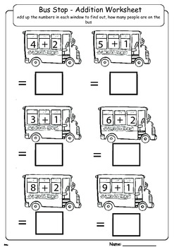 How Many People on the Bus - Adding 1 and 2