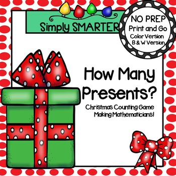 How Many Presents?:  NO PREP Christmas Counting Game
