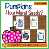 Pumpkin 0-20 Counting Games: How Many Seeds?