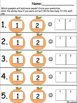 How Many Pumpkin Seeds Will Fit? A Differentiated Math Activity