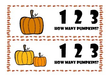 How Many Pumpkins? Count and Clip Activity
