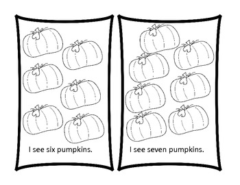 How Many Pumpkins Do I see?---Predictable text book for early readers