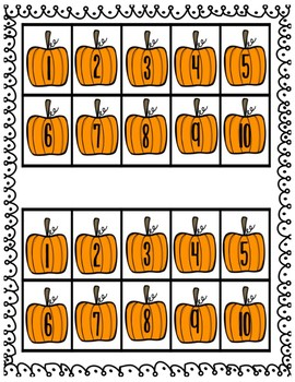 How Many Pumpkins Tall Are You? Counting & Measuring Activity