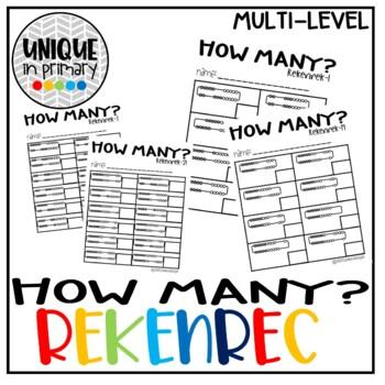 How Many? REKENREK-Subitizing & Building Numeracy (0-10) (10-20)