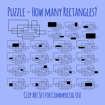 How Many Rectangles Puzzle With Solutions Clip Art for Commercial Use