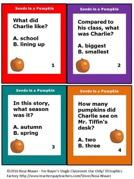 How Many Seeds in a Pumpkin? Literacy Unit