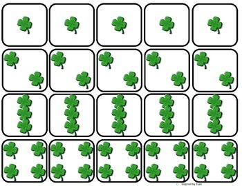 """""""How Many Shamrocks?"""" Simple Addition with Dice for Autism"""