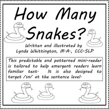 How Many Snakes?  (Level B mini-reader to target /sn/)