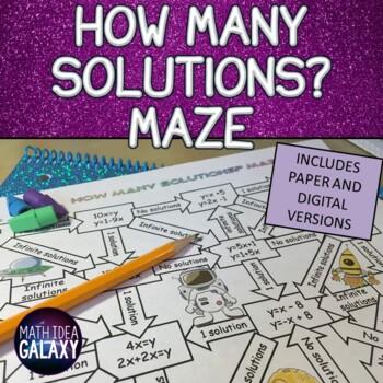 How Many Solutions Maze Activity