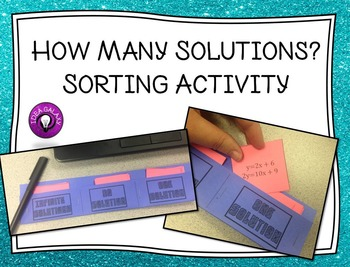How Many Solutions Sorting Activity
