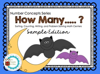 How Many? Sorting, Counting, Writing and Problem Solving Centers- Sample Edition