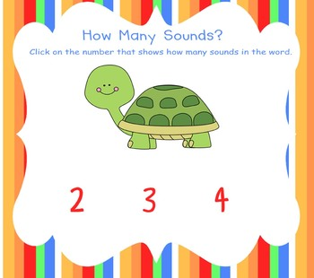 How Many Sounds?  A Phoneme Segmentation Activity for the Smartboard