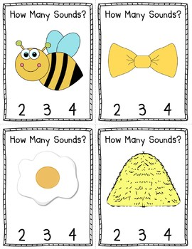 How Many Sounds?  A Phoneme Segmentation Literacy Center/Station