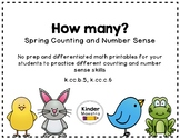 Spring Counting and Number Sense