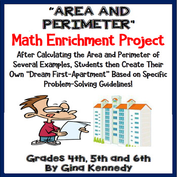 Area and Perimeter Enrichment Math Project For Upper Elementary