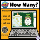 How Many? Counting Sets St. Patrick's Day BOOM Cards Digit